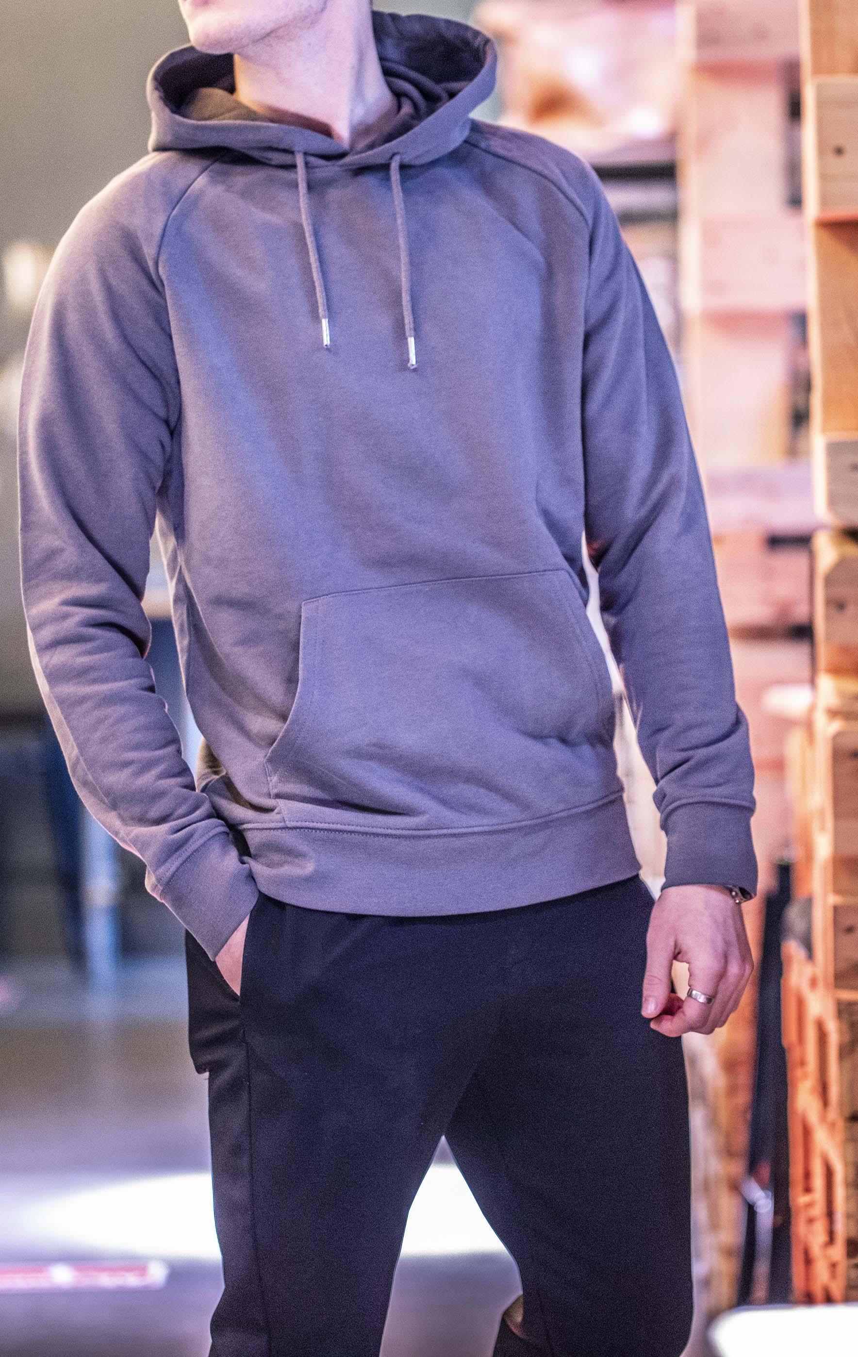 HOODIE ABERSFELDER Maß Männer - grau